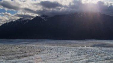 Knik glacier and Chugach Mountains — Stock Video