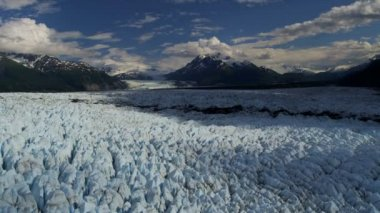Knik glacier and Chugach Mountains — Stock Video