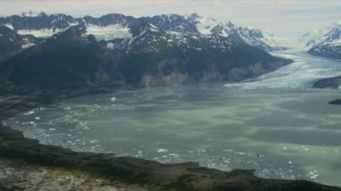 Alaska glacial region and Mountains — 图库视频影像