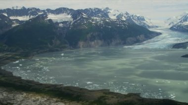 Alaska glacial region and Mountains — Vídeo de Stock