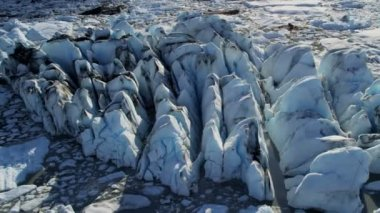 Ice floes broken from glacier — Stock Video