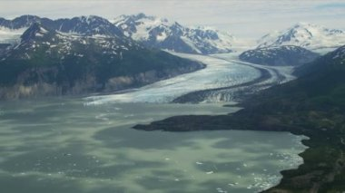 Columbia glacier medial moraine — Video Stock