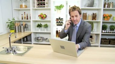 Business consultant working from home — Stock Video