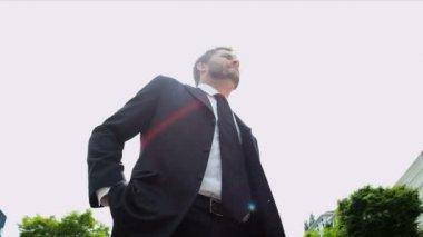 Successful businessman — Stock Video