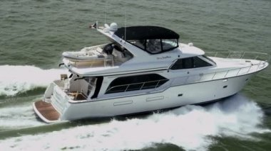 Aerial view luxury cruiser — Wideo stockowe