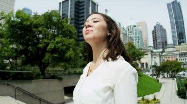 Happy businesswoman — Stock Video