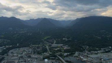 Luchtfoto van vancouver, canada — Stockvideo