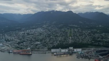 Aerial view of Vancouver, Canada — Stock Video