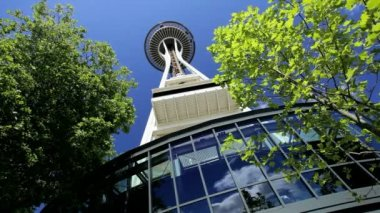 Space Needle Observatory, Seattle USA — Stock Video