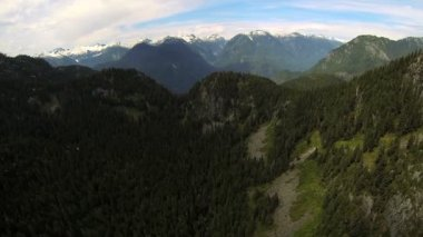 Aerial view Canadian Rocky Mountains, Canada — Stock Video