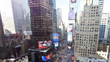 Times Square, Manhattan, New York, USA, Time lapse — Stock Video