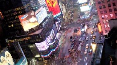 Times square, manhattan, new york, usa, lasso di tempo — Stockvideo