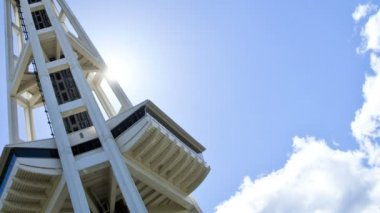 Space Needle lift motion Seattle, USA, Time lapse — Vidéo