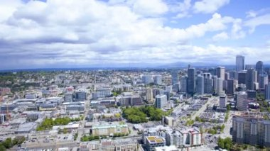 Panorama view Seattle city downtown, USA, Time lapse — Stock Video