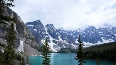 Lake Moraine, Alberta, Canada, Time lapse — Stock Video
