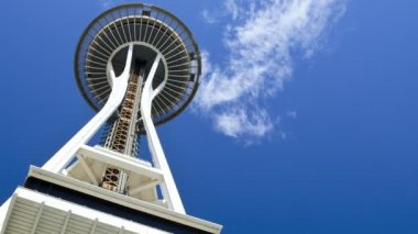 Space Needle lift motion Seattle, USA, Time lapse — 图库视频影像