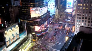 Times Square, Manhattan, New York, USA, Time lapse — Vídeo Stock