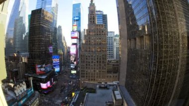 Times Square, Manhattan, New York, USA, Time lapse — Stock Video