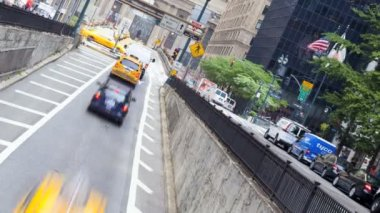 Yellow taxi cabs, New York, USA, time lapse — ストックビデオ
