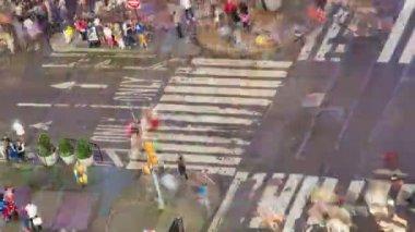 Таймс-сквер, Манхэттен, Нью-Йорк, Сша, промежуток времени — Стоковое видео