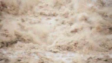 Natures tempête rapide montagne rivière — Vidéo