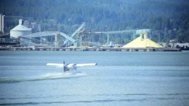 Water Airport, Vancouver Harbor, Canada — Stock Video
