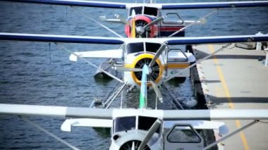 Seaplane Burrard Inlet Water Airport, Vancouver — Stock Video