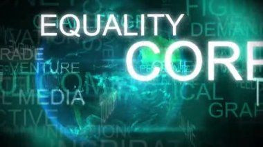 3D motion graphic text animation business corporate finance — Stockvideo