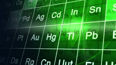 CG motion graphic education animation periodic table — Stockvideo