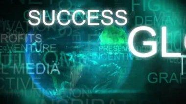 3D motion graphic text animation of business success — Vídeo de stock