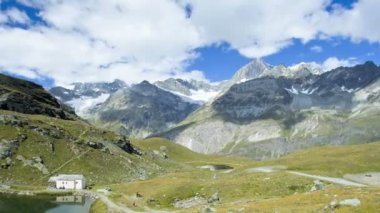 Cloudscape view Swiss Alps — Stock Video