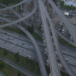 Aerial dusk view Interchange Interstate 90, Seattle City, USA — Stock Video #50722821