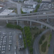 Aerial dusk view Interchange Interstate 90, Seattle City, USA — Stock Video #50724249
