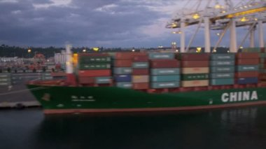 Aerial view Container ship Harbor Island Container Port Seattle, USA — Stock Video