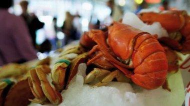 新鮮なロブスター パイクス魚市場シアトル、アメリカ合衆国 — ストックビデオ