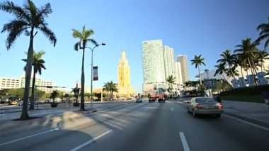 Driving on Biscayne Blvd — Stock Video
