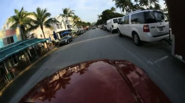 Driving on South Beach Miami — Stock Video