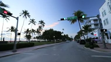 Driving on Ocean Drive — Stock Video