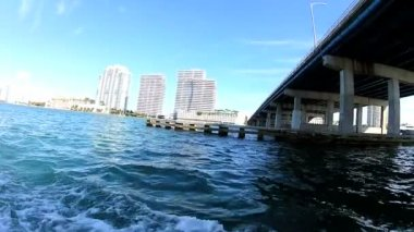 View of elevated overseas causeway — Stock Video