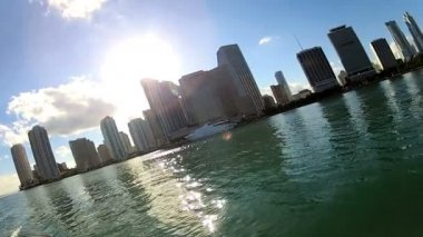 Miami city waterfront — Stock Video