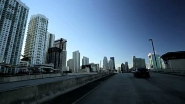 Driving flyovers elevated roads — Stock Video