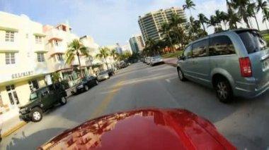 Driving across Restaurants and Hotels — Stockvideo