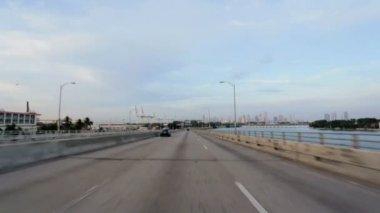 Driving on Ocean Causeway — Stock Video