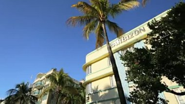 Ocean Drive hotels and condominiums — Stock Video
