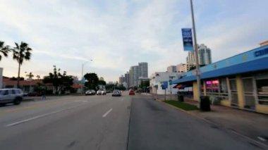 Driving on Miami city suburbs — Stock Video