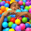 Girl playing in plastic pool — Stock Video #50943325