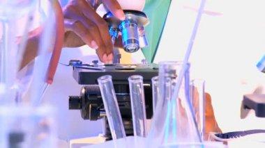 Lab technician working in laboratory — Stock Video