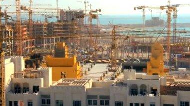 City coastline construction and development — Stock Video