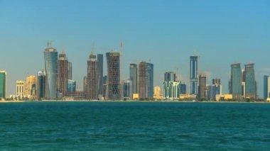 Cityscape of modern city skyscrapers — Stock Video