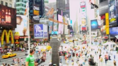 Young Male Tourist Times Square New York Wireless Tablet — Stock Video